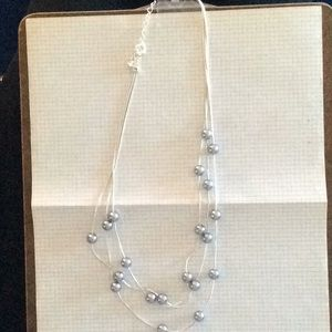Jewelry - *FIRM* Silver toned triple strand necklace